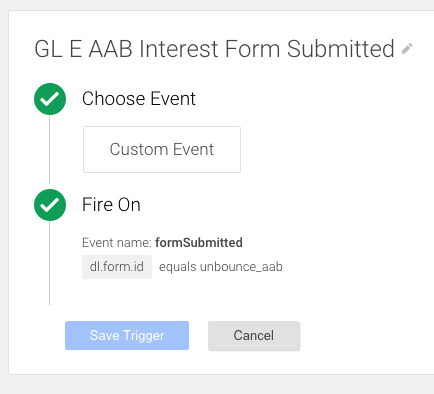 GTM Form Submitted