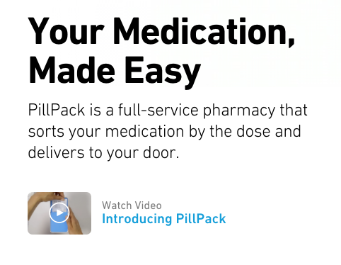 Pillpack video launcher